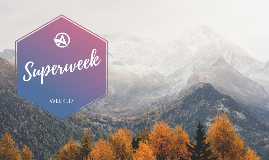 Superweek Autumn logo on mountains